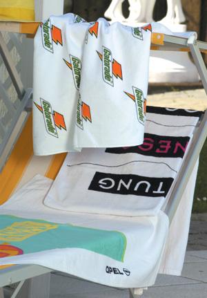 Velour-Handtuch (Logo gedruckt)